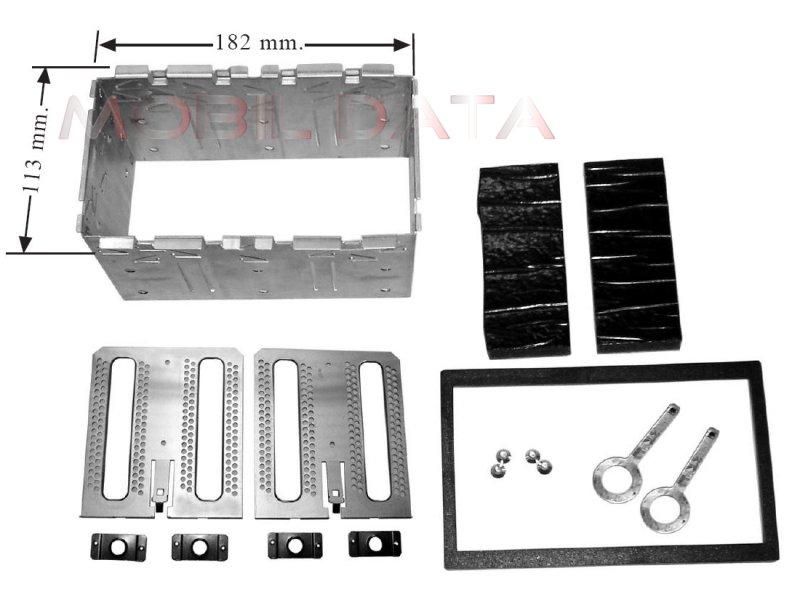 Univ. dupla DIN beszerelő keret dupla ISO készülékekhez 571968