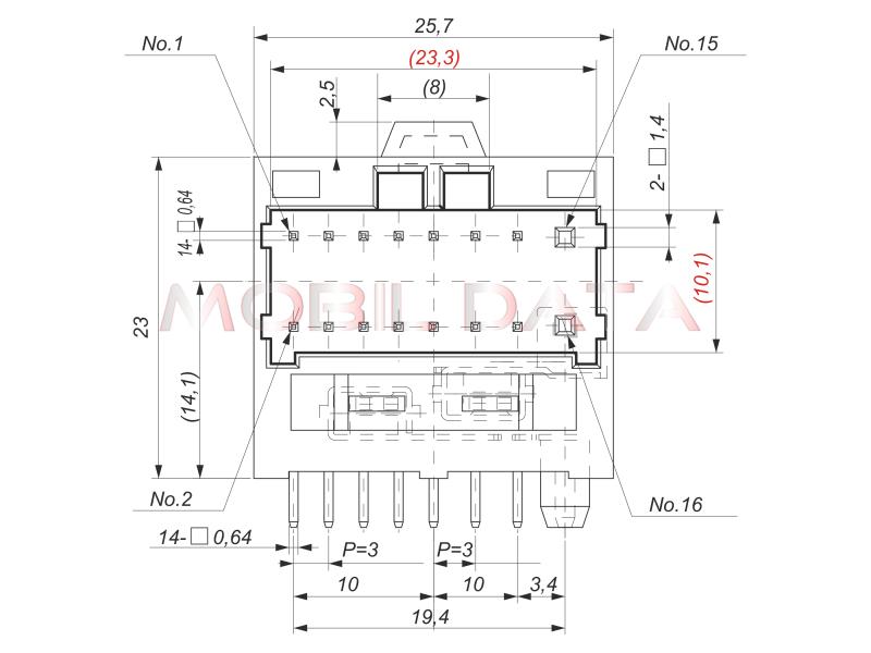 PIONEER autórádió csatlakozó dugó méretei (ami a készülék házban van)