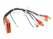 10 pólusú ISO - RCA Aranyozott erősítő kimenet adapter kábel 1440-02 (4RCA)