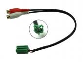 AUX-IN kábel Renault autókhoz (Carminat rádióhoz) RCA aljzattal 1424-07-RCA