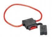 Biztosíték tartó vezetékbe építhető ATC késes biztosítékhoz 30.3803-01