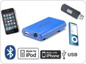Dension Gateway Lite BT iPod és USB interface Bluetooth kihangosítóval és A2DP zene lejátszással SEAT autókhoz MinISO csatlakozó