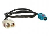 FAKRA - Dupla Fakra (fehér) antenna adapter kábel egyenes 520175-E