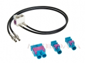 FAKRAx2 + dupla Fakra - Dupla Fakra (fehér) 90 fok antenna adapter kábel 520176