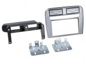 Fiat Grande Punto 2005-2010 anthracit metál dupla DIN rádió beépítő keret 381094-14-1