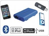 Dension Gateway Lite BT MKII iPod és USB interface Bluetooth kihangosítóval és A2DP zene lejátszással AUDI autókhoz (QuadLock)