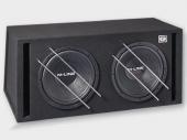 Gladen Audio M-LINE 12 VB DUAL kettős autóhifi subwoofer reflex ládában