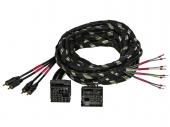 Gladen Quadlock PLUG & PLAY kábelköteg nagyjelszint bemenetű erősítőkhöz 4 csatornás 5 méter Z-PP-QL-4CH-5