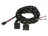 Gladen Quadlock PLUG & PLAY kábelköteg nagyjelszint bemenetű erősítőkhöz 2 csatornás 2,5 méter Z-PP-QL-2CH-2,5