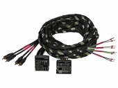 Gladen Quadlock PLUG & PLAY kábelköteg nagyjelszint bemenetű erősítőkhöz 4 csatornás 2,5 méter Z-PP-QL-4CH-2,5