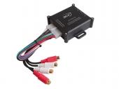 Jelszint átalakító Prémium High-End: hangszórószintből RCA jel, 4 csatornás Remote kimenettel 30.5000-24