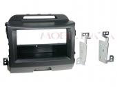 Kia Sportage III (SL) 2010.08-tól 1 DIN rádió beépítő keret fiókkal fekete 281178-28-1
