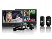 Lenco DVP-1045 2 x 10 colos hordozható DVD játszó USB/SD lejátszással és autós szettel