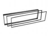 Műanyag kiemelő keret ISO fiókhoz 2x 2,5mm, 2x4mm, 2x10mm 571977-C