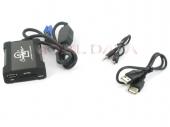 Peugeot MP3/USB/SD/AUX illesztő Mini ISO csatlakozóval szerelt rádiókhoz 44UPGS010
