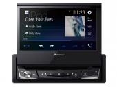 Pioneer AVH-A7100BT 1DIN kiforduló érintőképernyős autós multimédia lejátszó CD/DVD, Bluetooth, Apple Carplay Android Auto