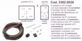 SPAL Kábelköteg 3x Golf3, Passat '91 kapcsolóhoz  Kód:3302.0026