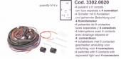 SPAL Kábelköteg 4x(6 s) kapcsolóhoz Kód:3302.0020