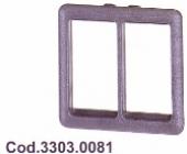 SPAL Univerzális körmös  kapcsoló keret  DUPLA 33030081