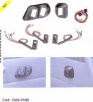 SPAL Univerzális kapcsoló készlet kárpitba Kód:33040188