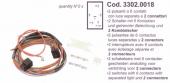 Spal Kábelköteg 2x (6 s) egymás melletti kapcsolóhoz Kód:3302.0018