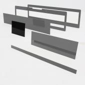 Speciális perspex lap egyedi méretben (kisebb téglalap, 125x95)
