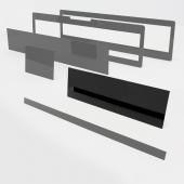 Speciális perspex lap egyedi méretben (nagyobb téglalap, 550x160)