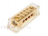 Táp elosztó blokk negatívhoz 2x50mm2 bemenet + 4x10 mm2 kimenet 30.3601-02