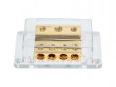 Táp elosztó blokk negatívhoz 1x50mm2 + 2x20mm2 bemenet és 4x20 mm2 kimenet 30.3601-05