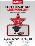 AUDIO SYSTEM HX 165 SQ hangszórószett az Év Készüléke 2011-ben 200 Euro felett